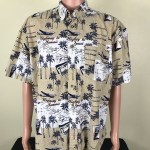 Highway to Hawaii Airplane Button Up shirt